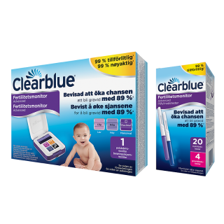 Clearblue Advanced Fertilitetsmonitor,20+4 st teststickor