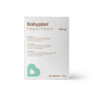 Babyplan folsyre 60 tabletter