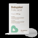 Babyplan folsyre / Folic acid