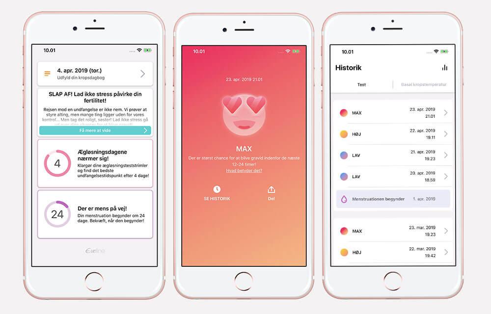 Eveline fertilitetsmonitor - med ægløsningstest og app