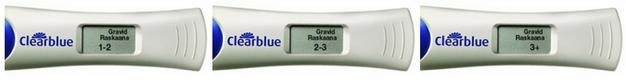 Clearblue digital graviditetstest ger ett klart och tydligt resultat