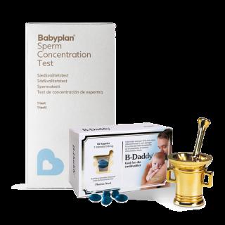 Babyplan sædkvalitetstest + B-Daddy