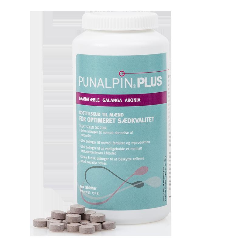 Punalpin® PLUS (540 tabletter/3 mdr.) Granatæble, galanga, aronia, zink, selen