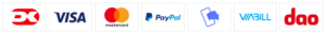 Her kan du betale med: Dankort, VISA, Mastercard, PayPal, MobilePay, Viabill
