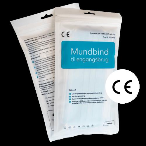 Mundbind type II pose med 10 stk